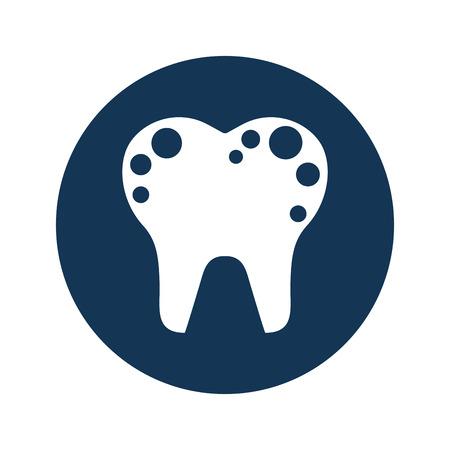 Zahn mit Flecken isoliert Symbol Vektor-Illustration Design Standard-Bild - 74909725