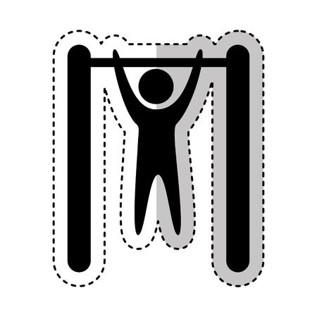 generative: Human figure doing exercise vector illustration design