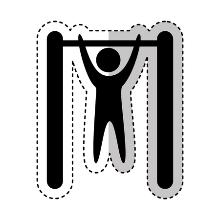 Human figure doing exercise vector illustration design