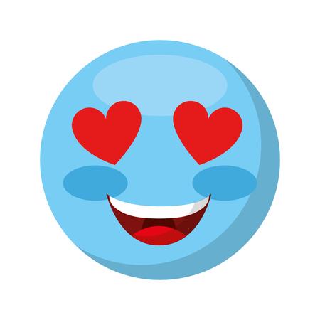 comic face emoticon isolated icon vector illustration design Stock Vector - 74909730