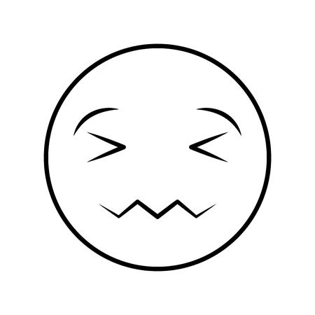comic face emoticon isolated icon vector illustration design Ilustrace