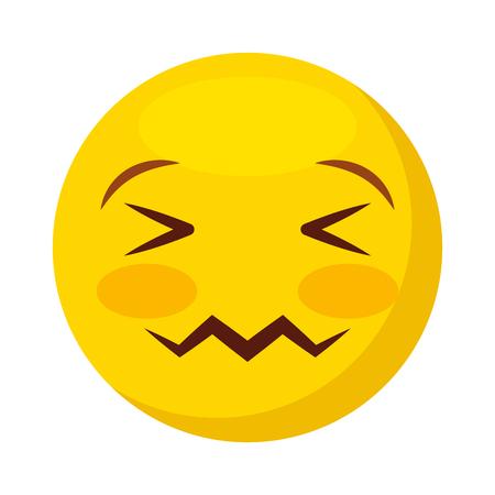 comic face emoticon isolated icon vector illustration design Stock Vector - 74910020