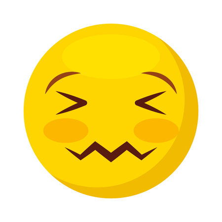 comic face emoticon isolated icon vector illustration design Illustration