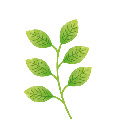 stemp with leaves icon over white background. colorul design. vector illustration