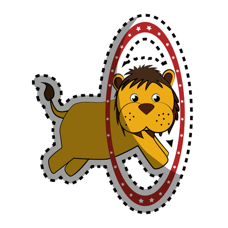 cute lion face icon vector illustration design Illustration