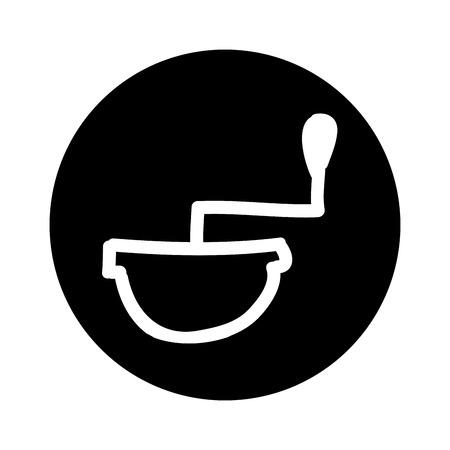 coffee grinder isolated icon vector illustration design Illustration