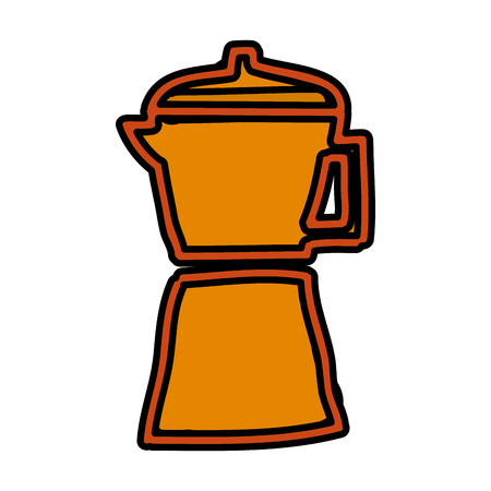 kettle silhouette isolated icon vector illustration design