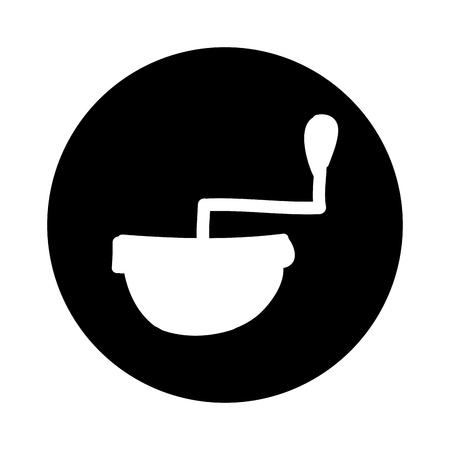 coffee grinder isolated icon vector illustration design Çizim