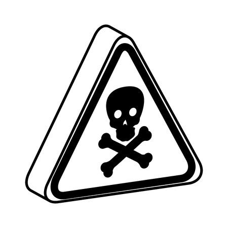 triangle caution signal icon vector illustration design