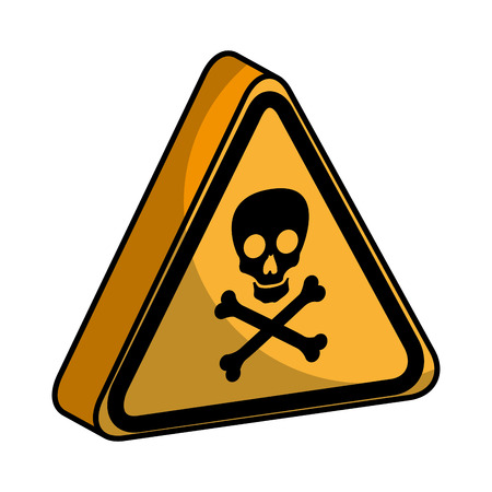 triangle caution signal icon vector illustration design