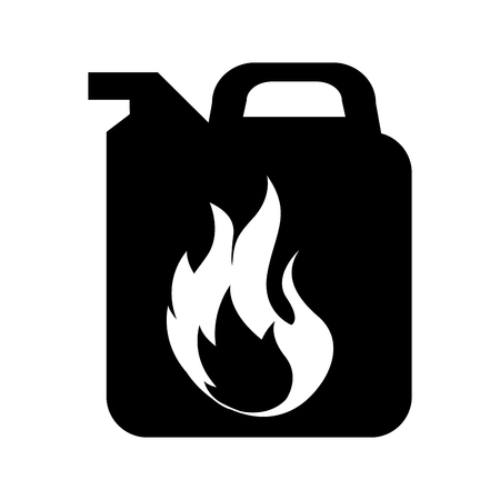 gallon with flame isolated icon vector illustration design Illustration