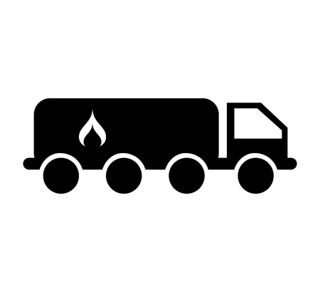 tanker truck with flame vector illustration design