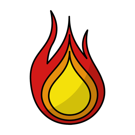 flammable warning: fire flame isolated icon vector illustration design