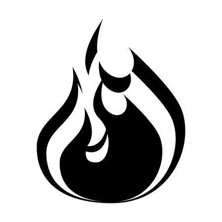 fire flame isolated icon vector illustration design