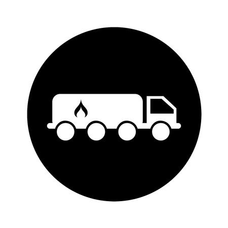 Tanker-LKW mit Flamme Vektor-Illustration Design Standard-Bild - 74963689