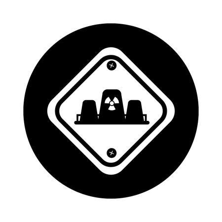 diamond caution sign icon vector illustration design Ilustração