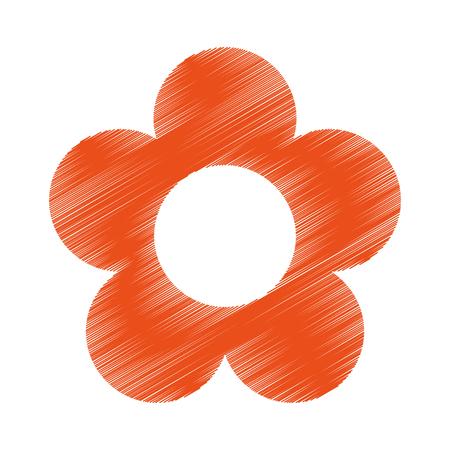 petal: cute flower isolated icon vector illustration design