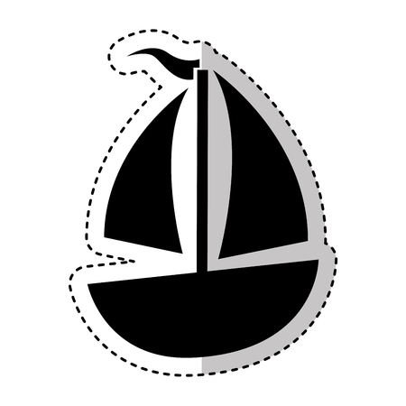 sailboat ship isolated icon vector illustration design Illustration