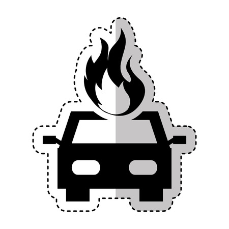 insured: car insurance isolated icon vector illustration design