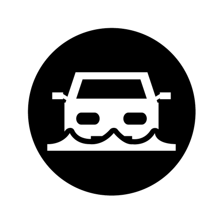 car insurance isolated icon vector illustration design Stock Vector - 74964144