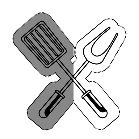 serving utensil: kitchen cutlery menu icon vector illustration design