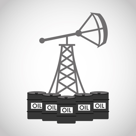 oil and gas industry: oil industry business icons vector illustration design