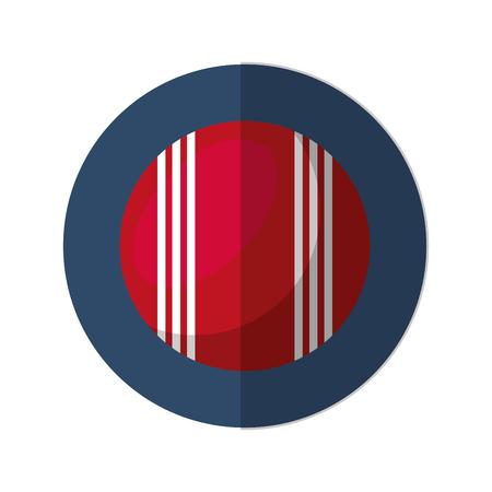 cricket ball isolated icon vector illustration design Illustration