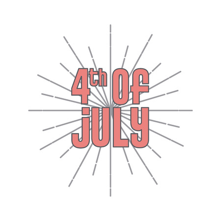 usa independence day date icon over white background. colorful design. vector illustration