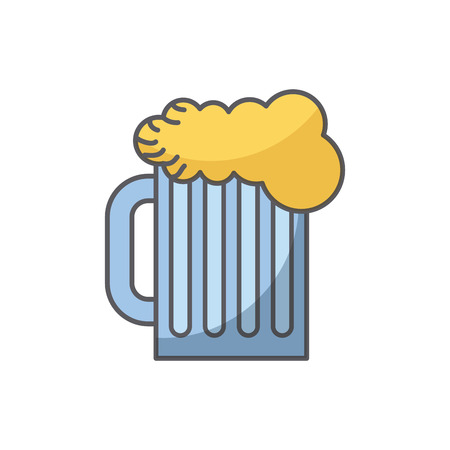beer jar icon over white background. colorful design. vector illustration