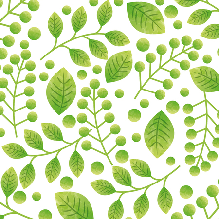 green leaves background. colorful design. vecotr illustration