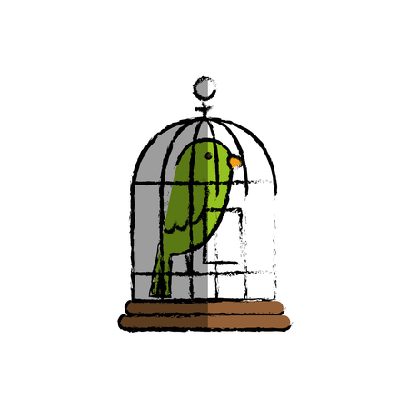 bird cage isolated icon vector illustration design Illustration
