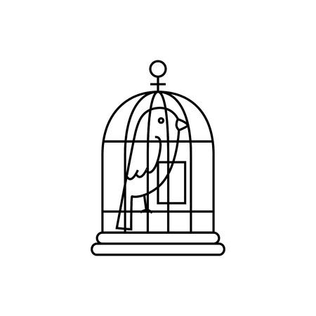 bird cage isolated icon vector illustration design Ilustração