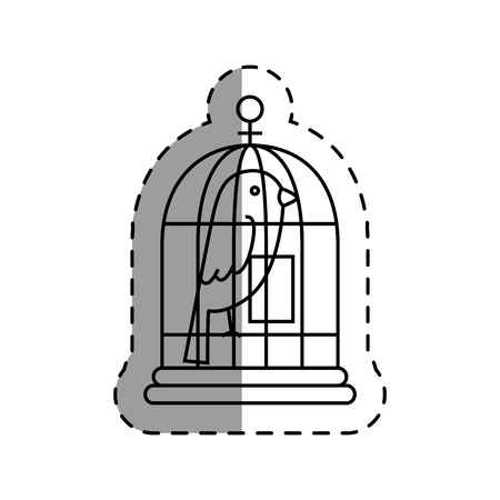 bird cage isolated icon vector illustration design Çizim