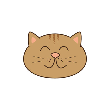 귀여운 고양이 마스코트 아이콘 벡터 일러스트 디자인 일러스트