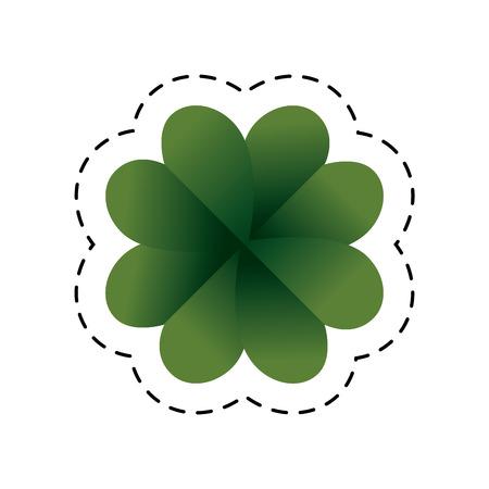 patrick's: saint patrick clover leaf vector illustration design Illustration