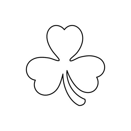 st  patrick's day: saint patrick clover leaf vector illustration design Illustration