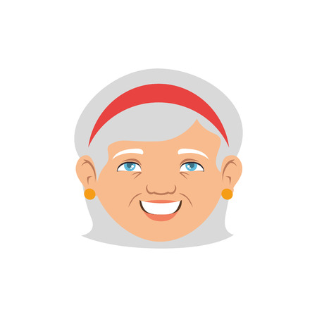 grandmother avatar character icon vector illustration design Illustration