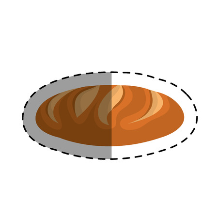 traditionally: delicious bread isolated icon vector illustration design