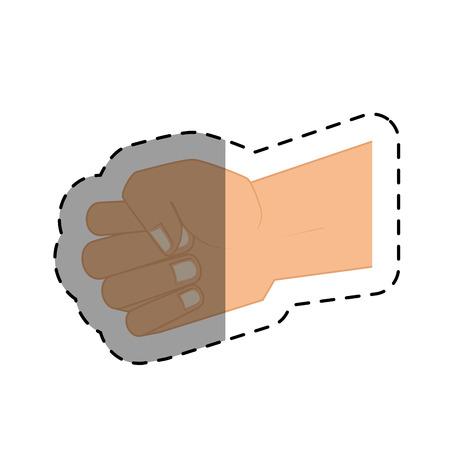 Puño de la mano humana aislada icono de ilustración vectorial de diseño Foto de archivo - 75240207