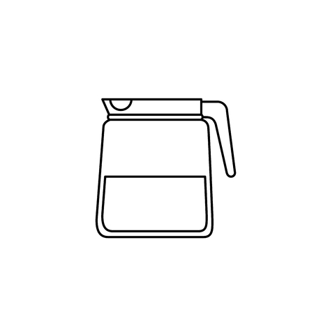 electric tea kettle: coffee teapot isolated icon vector illustration design