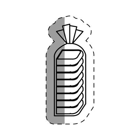 おいしいパン分離アイコン ベクトル イラスト デザイン  イラスト・ベクター素材