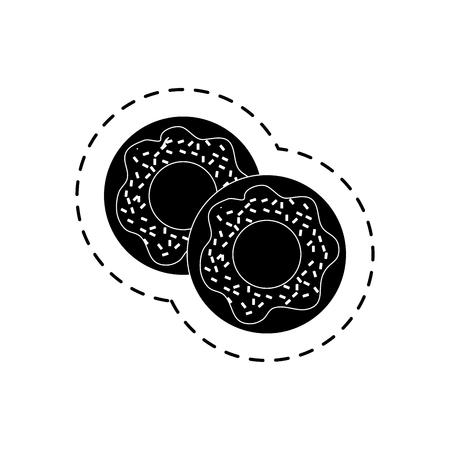 glazed: sweet donut isolated icon vector illustration design