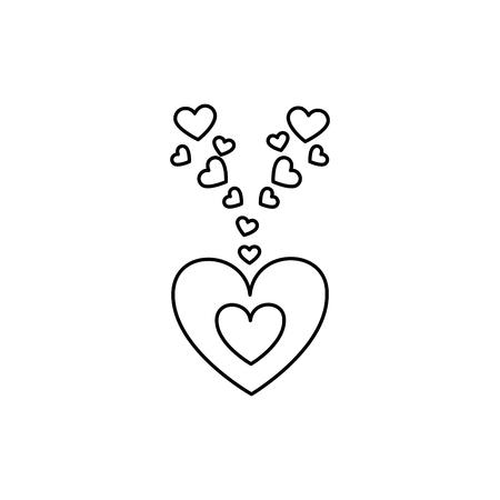 love card with hearts vector illustration design Illustration