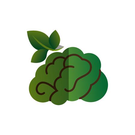 brain human with tree creative icon vector illustration design