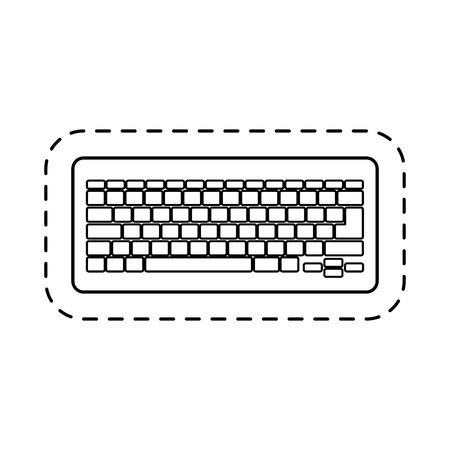 computer keyboard isolated icon vector illustration design Illustration