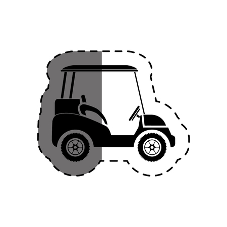 golf cart isolated icon vector illustration design