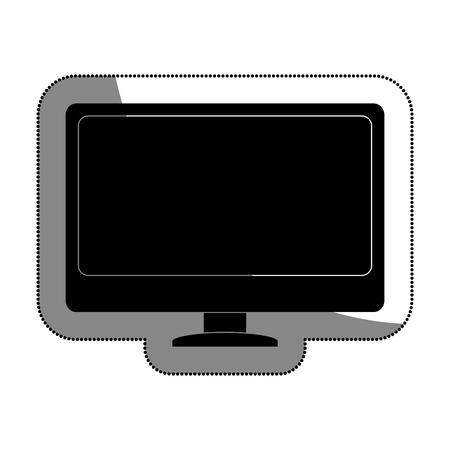 storage device: computer desktop isolated icon vector illustration design Illustration