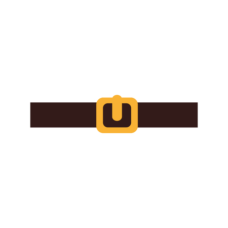waistband: belt male isolated icon vector illustration design Illustration