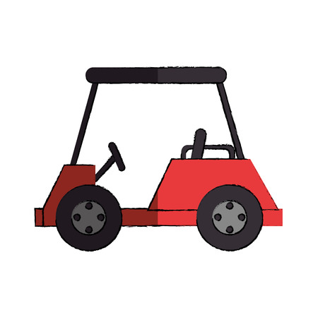 recreational: golf cart isolated icon vector illustration design