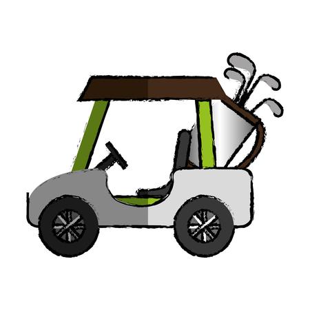 golfkar geïsoleerde pictogram vectorillustratieontwerp